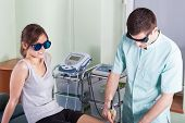 Treating Leg Using Laser Therapy