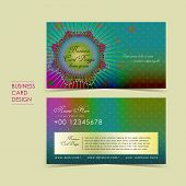 Bohemian Style Vector Business Card