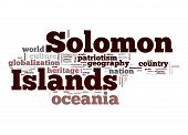Solomon Islands Word Cloud