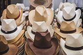 Cowboy Hats On Display At Rocking The Park Event In Milan, Italy