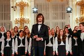 Prague, Czech Republic - November 11, 2011: Children's Choir Performs In Prague Castle On November 1
