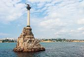 image of sevastopol  - Monument to scuttled Russian ships to obstruct entrance to Sevastopol bay - JPG