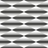 Geometric Monochrome Seamless Pattern Of Rhombus