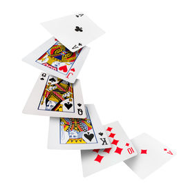 stock photo of combinations  - The combination of playing cards poker casino - JPG