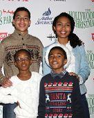 LOS ANGELES - NOV 30:  Marcus Scribner, Marsai Martin, Miles Brown, Yara Shahidi at the 2014 Hollywood Christmas Parade at the Hollywood Boulevard on November 30, 2014 in Los Angeles, CA