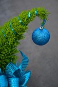 Little Christmas Tree With Blue Ornament