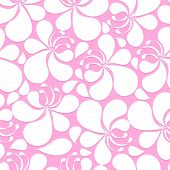 Abstract Pink  And White Hibiscus Floral Seamless Pattern