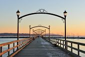 City Of White Rock Pier At Sunset