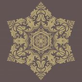 Floral  Pattern. Orient Abstract Background