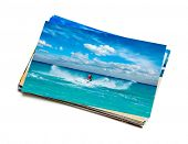 stock photo of ski boat  - Holidays beach adventure concept creative background  - JPG