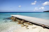 Jetty at beach of Porto Mari, Curacao