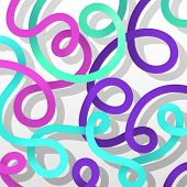Colorful Curly Background, vector eps10 illustration