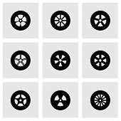 Vector wheel icon set