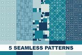 set of colorful geometric patterns