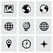 Vector world map icon set