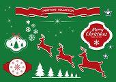 Christmas design elements