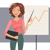 Business Woman. Vector Illustration