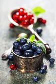 blueberries and red currant berries
