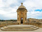 Watchtower in Senglea, Malta. Garden view