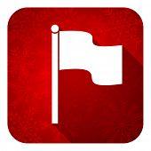 flag flat icon, christmas button