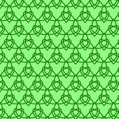 Celtic Seamless Pattern. Colored With Green.