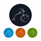 Icon bicycle , vector illustration