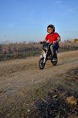 foto of motocross  - Motocross track the dream of all children - JPG