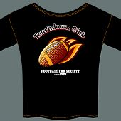 American football t-shirt template