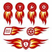 Flame emblems