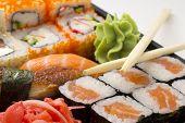 Sushi Bento Box With Chopsticks