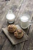 Fresh Homemade Bread And Milk