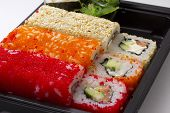 picture of masago  - Sushi bento box - JPG