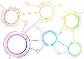 Scheme Template With Rainbow Circles