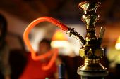 pic of shisha  - Part of a hookah in the arabic restaurant - JPG