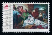 John Copley's Painting. Christmas Postage Stamp