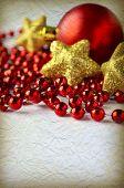 Grunge Christmas Background With Holiday Decoration