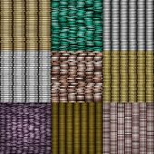 Set Of Coin Stack Seamless Generated Textures