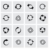 Vector black refresh icon set