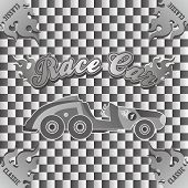 picture of muscle-car  - retro muscle car vector graphic art illustration - JPG
