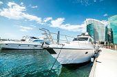 DUBAI, UAE - DECEMBER 17. Festival city - large multifunctional complex in Dubai (UAE). Includes apartments, hotels, shopping centers, golf courses. December, 17. 2013. Dubai, UAE
