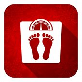 weight flat icon, christmas button