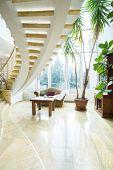 Modern Spiral Stairs In Luxury Villa
