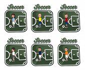 soccer cartoon set