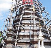 Temple Stupa renovation.
