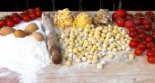 Ingredients of italian pasta