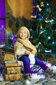 The Girl Near A Christmas Fir-tree 1