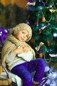 The Girl Near A Christmas Fir-tree 3