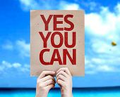 image of persistence  - Yes You Can card with a beach on background - JPG