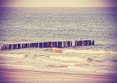 stock photo of peaceful  - Vintage retro filtered picture of a beach peaceful background - JPG