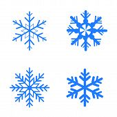 Vector snowflakes set for Christmas design.